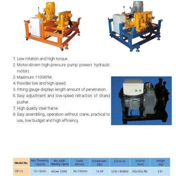 Hydraulic Mechanical Steel Strand Pusher